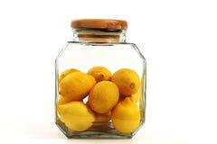 Tarro de los limones Foto de archivo libre de regalías
