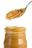 Tarro de mantequilla de cacahuete Foto de archivo