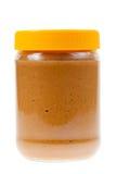 Tarro de mantequilla de cacahuete aislado fotografía de archivo