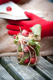 Tarro de manzanas Fotografía de archivo