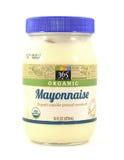 Tarro de mayonesa orgánica de la marca de Whole Foods 365 fotografía de archivo libre de regalías