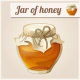 Tarro de miel ilustración del vector
