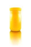 Tarro de miel de la abeja foto de archivo libre de regalías
