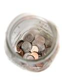 Tarro de monedas Imágenes de archivo libres de regalías