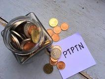 Tarro de monedas Fotografía de archivo