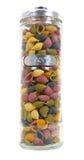 Tarro de pastas coloridas Imagen de archivo libre de regalías