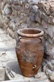 Tarro del almacenamiento de Minoan en Knossos. Fotos de archivo libres de regalías
