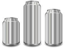 Tarro del aluminio tres Foto de archivo