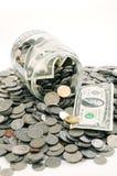 Tarro del dinero Foto de archivo