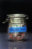 Tarro del fondo de la universidad Imagen de archivo libre de regalías