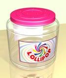 Tarro del Lollipop Imagen de archivo