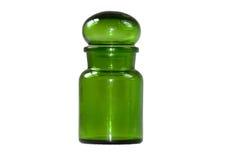 Tarro del vidrio verde imagen de archivo libre de regalías
