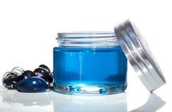 Tarro gel-2 azul Imagen de archivo libre de regalías