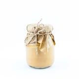 Tarro hermoso de natillas  Imagen de archivo libre de regalías