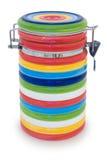 Tarro multicolor rayado. Imagen de archivo libre de regalías