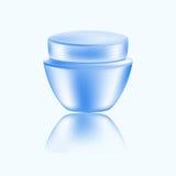 Tarro redondo para los cosméticos - la crema corporal o el otro remedio cosmetological Ilustración del vector Fotos de archivo libres de regalías