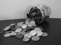 tarro trasero y blanco de cambio Fotos de archivo libres de regalías
