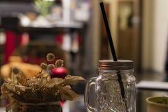 Tarro vacío del cóctel Imagen de archivo libre de regalías
