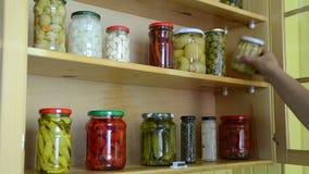 Tarro vegetal adobado almacen de video