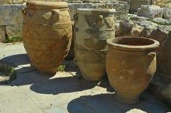 Tarros antiguos de la arcilla Fotografía de archivo libre de regalías