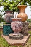 Tarros antiguos de las estatuas Foto de archivo libre de regalías