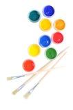 Tarros con las pinturas del color Foto de archivo libre de regalías