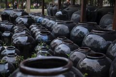 Tarros de cerámica Fotos de archivo