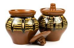 Tarros de cerámica imagen de archivo