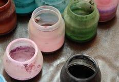 Tarros de Colorfull Imagen de archivo