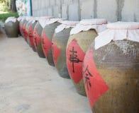 Tarros de condimento chino Fotos de archivo libres de regalías