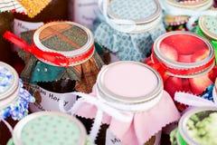 Tarros de encargo Foto de archivo libre de regalías