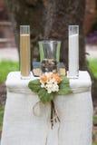 Tarros de la arena para la boda   Imágenes de archivo libres de regalías