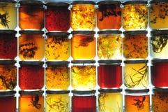 Tarros de la jalea Fotografía de archivo libre de regalías