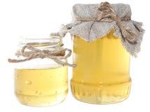 Tarros de la miel imagen de archivo libre de regalías