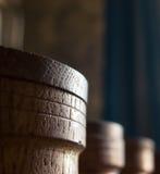 Tarros de madera Imagenes de archivo