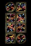 Tarros de tiza Foto de archivo libre de regalías