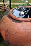 Tarros del almacenamiento del agua de lluvia imagen de archivo