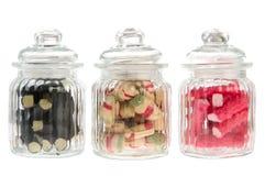 Tarros del caramelo Fotografía de archivo libre de regalías