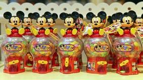 Tarros del caramelo de Mickey Mouse Imagenes de archivo
