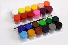 Tarros del color de cartel Imagen de archivo libre de regalías
