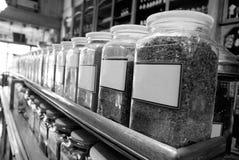 Tarros viejos de la especia Fotografía de archivo libre de regalías