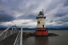 Tarrytown Lighthouse. Tarrytown Light, also known as Kingsland Point Light and Sleepy Hollow Light on the east side of the Hudson River in Sleepy Hollow, New Royalty Free Stock Image