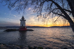 Tarrytown lighthouse after Sunset [Unites States] Stock Photography