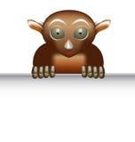 Tarsier. Illustration of tarsier on white background stock illustration
