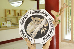 Tarsier fundamenttecken Royaltyfria Bilder