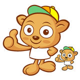Tarsier Mascot the Left hand best gesture. Animal Character Desi Stock Image