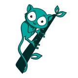 Tarsius动物字符 免版税库存照片
