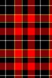 Tartán rojo de la tela escocesa Imagenes de archivo