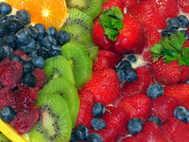 Tart 7. Tart with many fresh fruits Royalty Free Stock Images