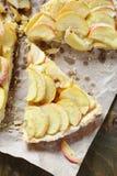 Tart with apples on a napkin Stock Photo